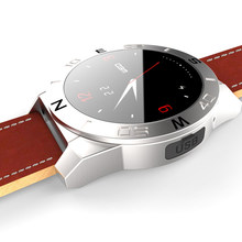 Bluetooth Smartwatch смарт часы X2 часы роскошный кожаный ремешок с шагомер громкой компас для iOS android-коммуникатор
