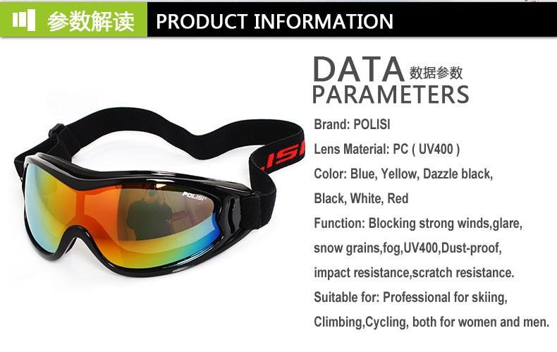 New Men Women Skiing Goggles Ski Eyewear UV400 Outdoor Sports