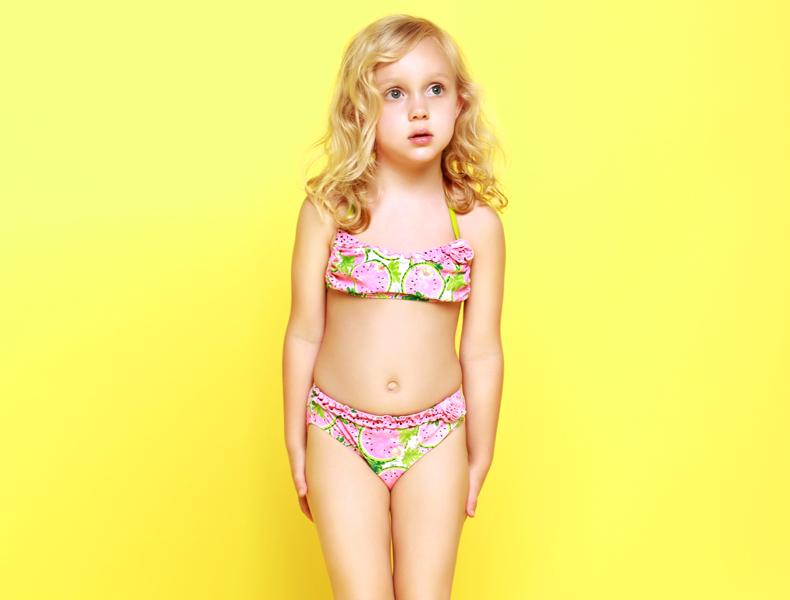 sexy princess cute toddler frozen bikini children swimwear ...