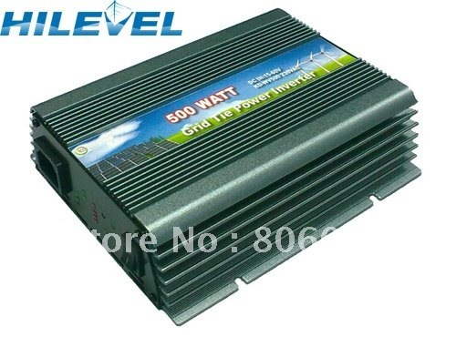 On Grid Inverter Wide Voltage Input 15-62VDC 500W Solar Wind Grid Tie Inverter Free Shipping