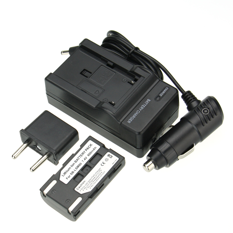 Hot !1pcs Battery+Charger SB-LSM80 SB LSM80 SBLSM80 Rechargeable Camera Battery SAMSUNG VP-DC175 VP-DC565 VP-DC575 SC-D357