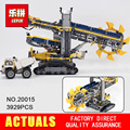 NEW LEPIN 20015 technic series 3929pcs Bucket wheel excavator Model Building blocks Bricks Compatible 42055 Toy