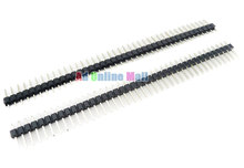 10PCS/LOT 40PIN 11CM 2.54MM Pitch Single Row Pin Header Connector Strip for Arduino(China (Mainland))