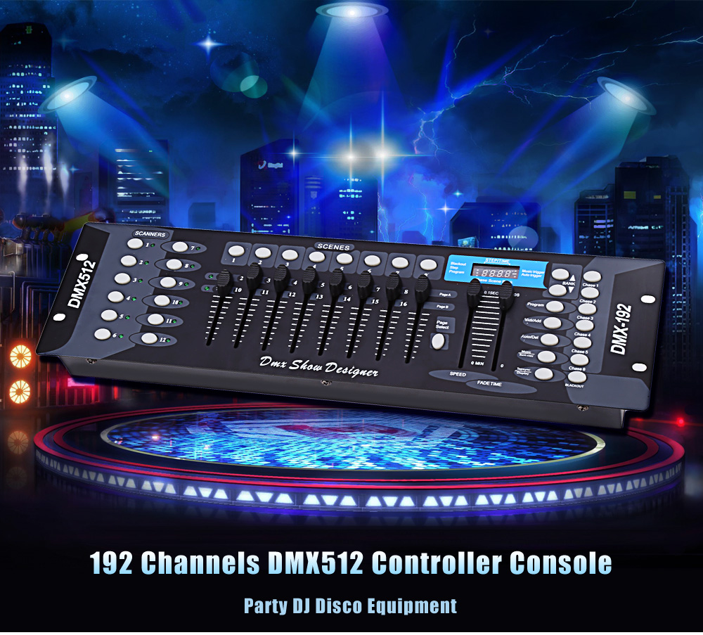 Professional DC 9 - 12V 192 DMX Controller Stage lighting 512 DMX Console DJ Controller Equipment For Stage Party DJ Light(China (Mainland))
