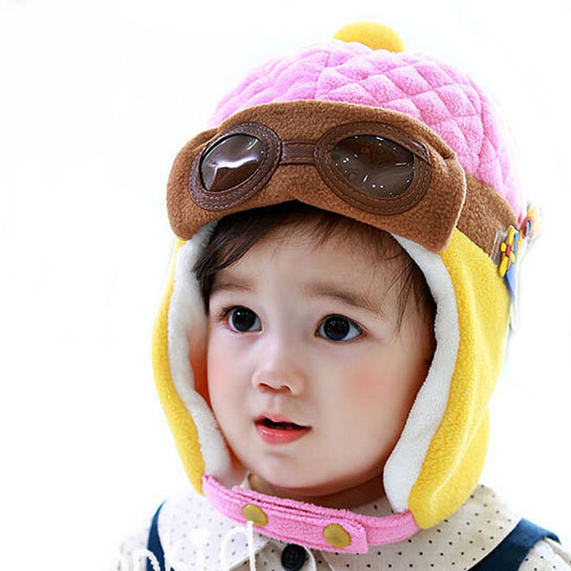 Hot Sale Toddlers Warm Cap Hat Beanie Cool Baby Boy Girl Hat Kids Infant Winter Pilot Aviator Cap Free Shipping(China (Mainland))