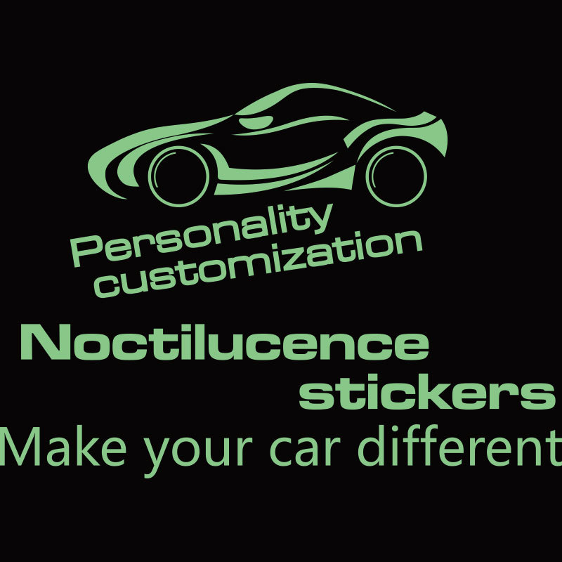 Customized car luminous stickers and decals according to your requirements,make your car different,car styling design(China (Mainland))