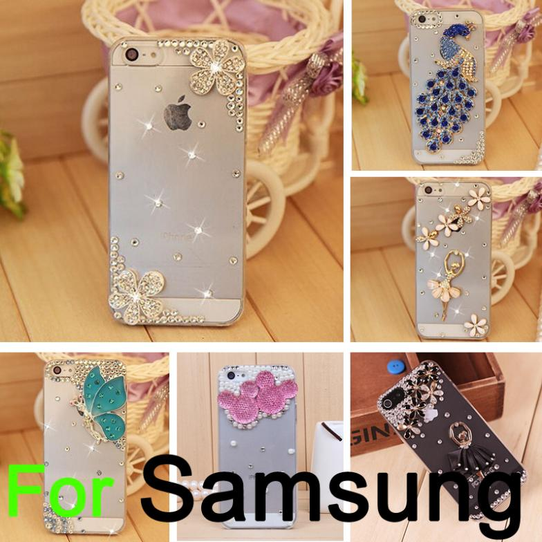 2014 New Luxury DIY 3D Bling Rhinestone Diamond Phone Case Samsung Galaxy S3 S4 S5 mini Note 2 3 4 i9082 s7562 - BIZTURBO Direct Sale store