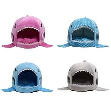 2017 2 Size Pet Products Warm Soft Dog House Pet Sleeping Bag Shark Dog Kennel Cat Bed Cat House cama perro Puppy House(China (Mainland))