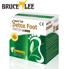 120 Piece Bruce Lee Gold Detox Foot Patch Bamboo Vinegar Pads Improve Sleep Beauty Slimming Patch 60pcs Patches+60 pcs Adhesives(China (Mainland))