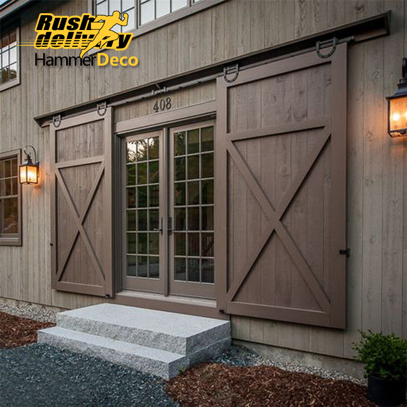 horseshoe u shaped modern barn wood interior double sliding door