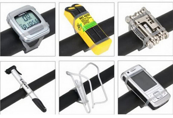 Bicycle Handlebar Silicone Strap Bike Front Light Holder Phone Fixing Elastic Tie Rope Cycle Bicicleta Torch