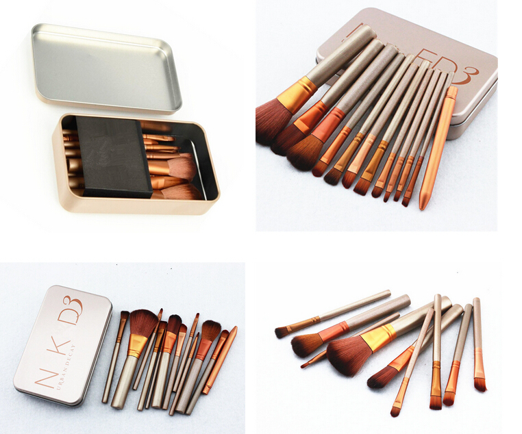 12 Pcs new nake 3 brush,NK3 Makeup Brush naked brushes kit Sets for eyeshadow blusher Cosmetic Brushes Tool eyeshadow palette(China (Mainland))