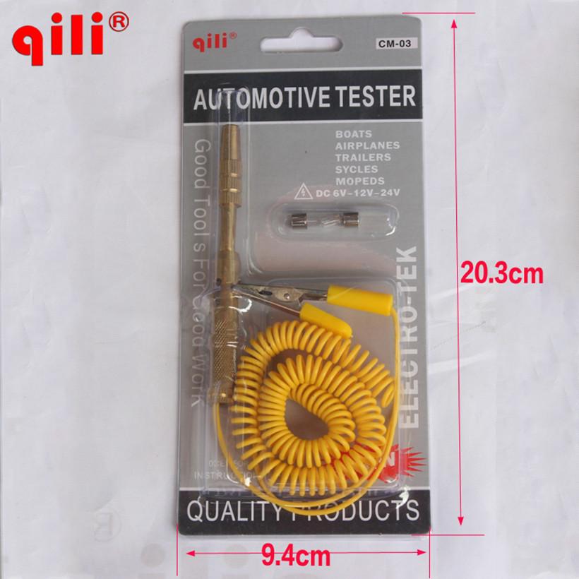 2016 New Arrival Car Circuit Test Pen DC 6V 12V 24V Auto Voltage Gauge Car Test VoltMeter Light Bulb Automotive Tester Pen(China (Mainland))