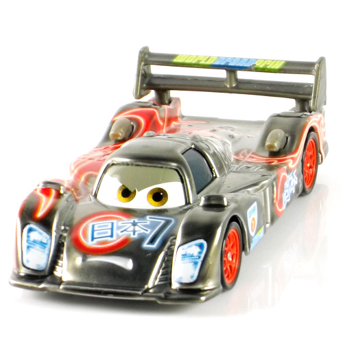 Pixar Cars 2 Neon Metallic Finish SHU TODOROKI Japan Racer 1:55 Diecast Metal Classic Toy Cars For Kids Children(China (Mainland))