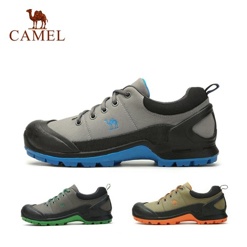 Фотография NEW 2015 Camel Brand Men Outdoor Hiking Genuine Leather Low Help Mountain Non-Slip Breathable Waterproof Sport Walking Shoes