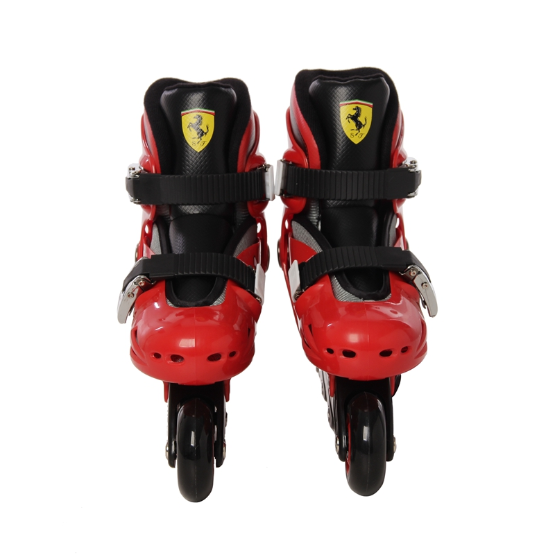 Фотография Ferrari Inline Two Color Selectable Skate Shoe FK7-S for Adult Roller Slalom Skates Braking Free Adjustable