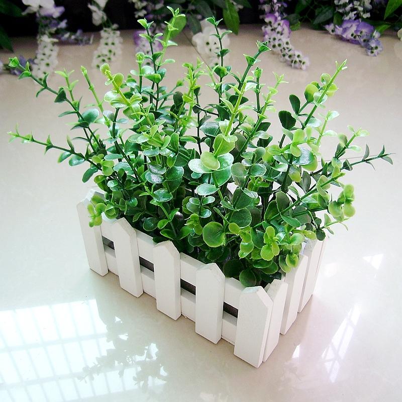 Artificial flowers wholesale silk flower corsage shelf potted plants eucalyptus Ye fence suit(China (Mainland))