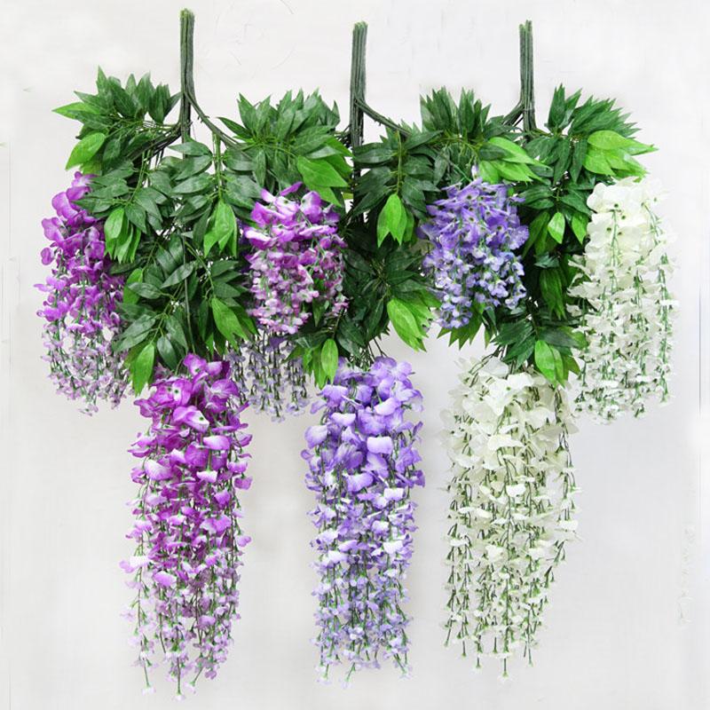 buy silk flower artificial flower wisteria vine rattan for christmas home. Black Bedroom Furniture Sets. Home Design Ideas