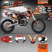 Buy Customized Repsol Team Graphics Backgrounds Decals 3M Stickers KTM SX F E XC F W SXF125 530 2007 2008 2009 2010 2011-17 for $86.43 in AliExpress store