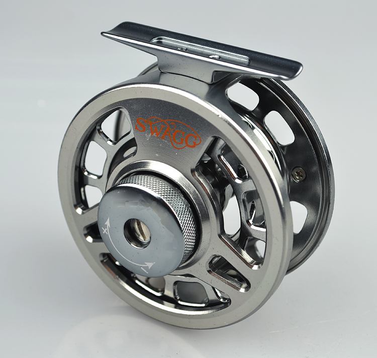 Free shipping 1pcs SHA Single colour Aminum Die casting CNC Fly Fishing reels Right/left hand Bait Fly Fishing Wheel(China (Mainland))