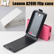 Free shipping mobile phone bag PU Lenovo A269i Flip case mobile phone accessories cover Three colors