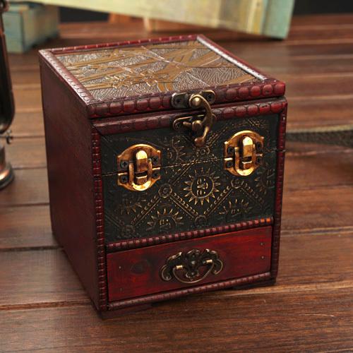 cheap shipping european retro antique box creativity