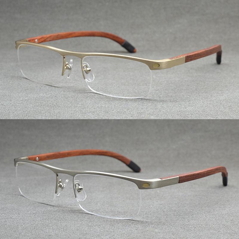 Quality Wooden Temple Eyewear Frame Brand Designer Glasses Men(China (Mainland))