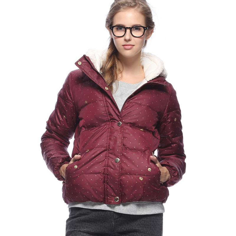 Women Winter Jacket Down Coat Red/Black Cotton Down Parkas Russian Thick Tops Female Zipper Warm Coats O-Neck Veste Hiver Femme(China (Mainland))