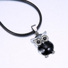 Owl Black Men s Jewelry Gift 316L Stainless Steel Chain Necklace fashion necklaces for women 2014