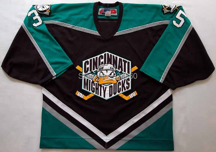 2000s Iilya Bryzgalov Cincinnati Ice Hockey Anaheim Mighty Ducks Movie #35 KOHO Jersey - Customized Any No&amp;Name Sewn On XXS-6XL<br><br>Aliexpress