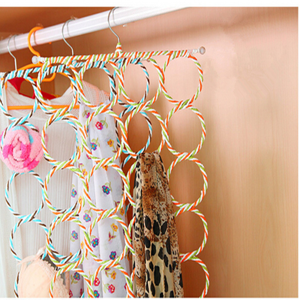 Five Layers Fashion Portable Stainless Steel Durable Scarf Storage Racks Holder living room CF52 - I Case store