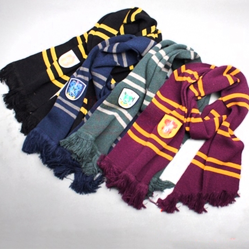 New Magic School Harri Potter Scarf Cosplay Cotton Costume Winter neckerchief Unisex Scamander Ravenclaw Hufflepuff Cosplay(China (Mainland))