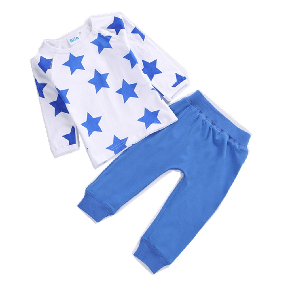 @ AJia 2 Colors 0-24Months Baby clothes sets boys Cotton leisure wear Layette sets newborn fashion clothes boys home pajamas(China (Mainland))