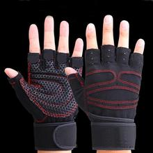 Men Fitness Weight Lifting Gym Sport Training Wrist Wrap Gloves Exercise Workout