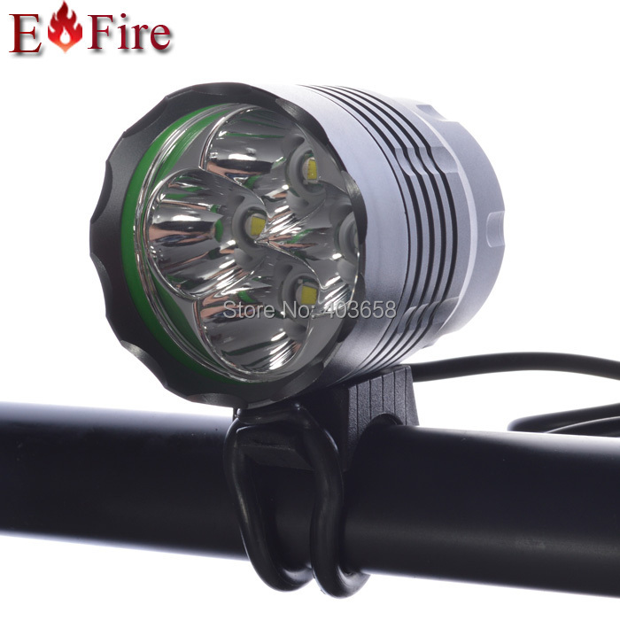 New Arrival 5200 Lumen 4 x CREE XM-L T6 LED Bicycle LED Light Headlight Waterproof Design 6400Mah Battery(China (Mainland))