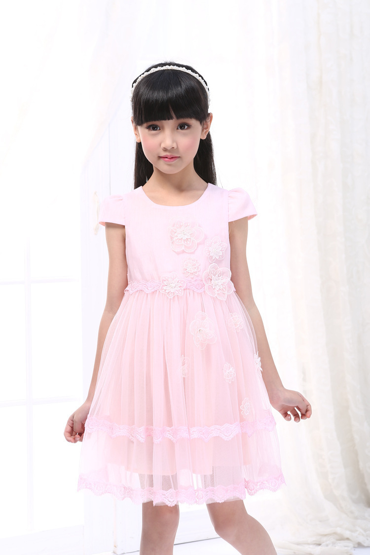 2015 Teenager Rose TuTu Ball Gown Fancy Girl Dress Robe Mariage Fille Princess Custome Whiolesale <br><br>Aliexpress