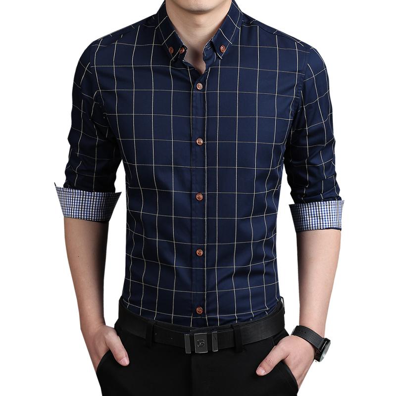Camisa Social Masculina Quadricular Camisa Social