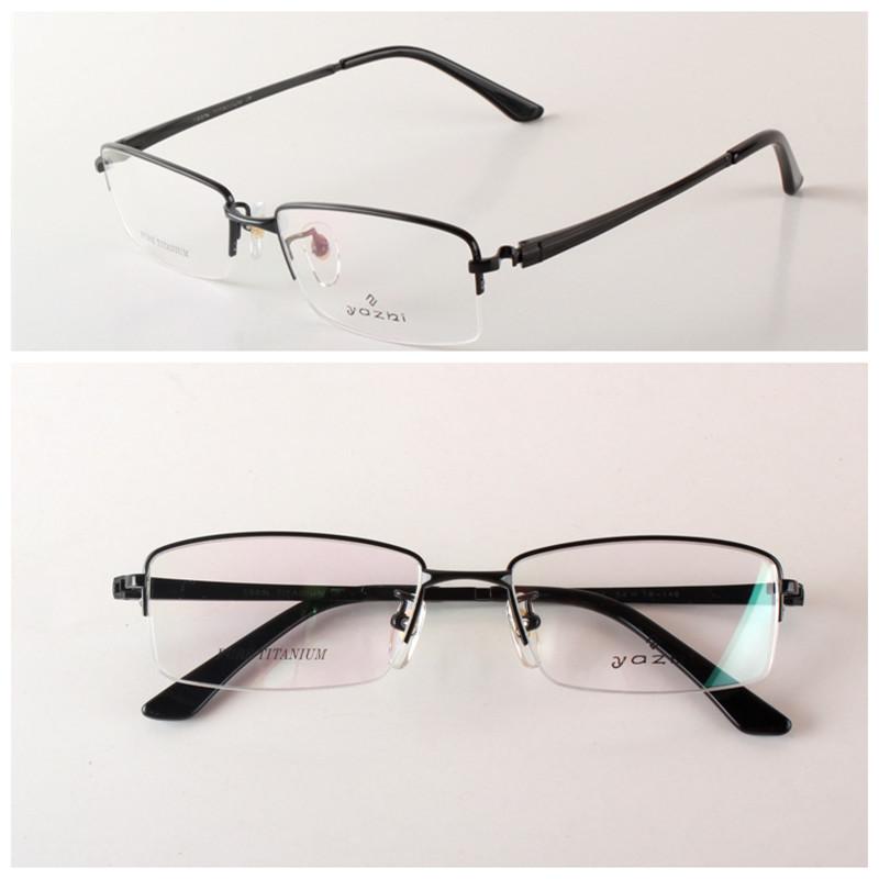 Eyeglass Repair Half Frame : Comfortable Titanium Glasses Frame Men Half Rim Eyeglass ...