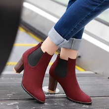 2015 Fashion Pointed-toe High Heels Platform Spring Autumn Short Shoes For Female Sexy  Motorcycle Boot Hot Sale Shoes(China (Mainland))