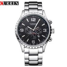 Original Novo CURREN Marca de Luxo Relogio masculino Casual Data Men Sports Reloj Orologio Militar Inoxidável Relógio de Quartzo 8056