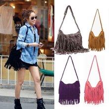 Hot Sale 2013 Fashion Women Handbag Tassel Cross Body Women Bag Solid Color Zipper Shoulder Bags Women Leather Handbags BG-0014