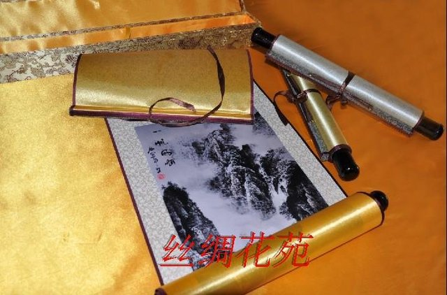 """So beautifull 140*45 Chinese traditional landscape paintings""""Clear Sailing""""SS-096,silk,business gifts,New Arrival,20%discount"""