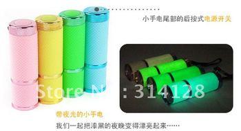 Super bright aviation magnesium plastic 9LED flashlight/mini flashlight/light torch/with luminous torch 12PCS