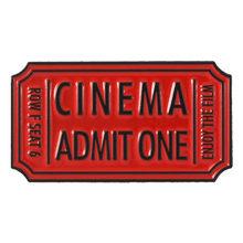 Punk Tiket Film Enamel Pin Rocky Horror Cinema/Neraka Mengakui Hitam Merah Tiket Lencana Logam Pakaian Kerah Bros untuk Para Penggemar(China)