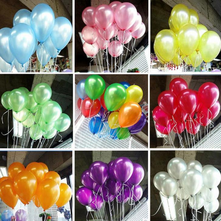 New 100pcs/lot 10inch 1.2g/pcs Latex Balloon Helium Thickening Pearl Celebration Party Wedding Birthday Balloon(China (Mainland))