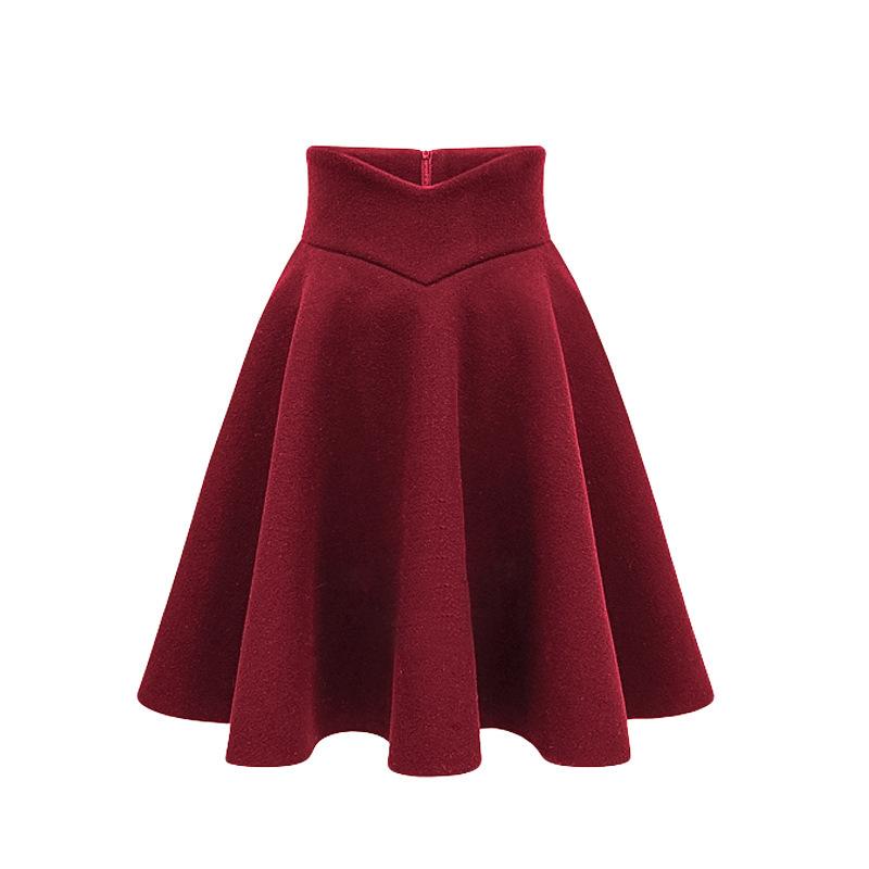2016 autumn skirt winter high waist pleated skirt
