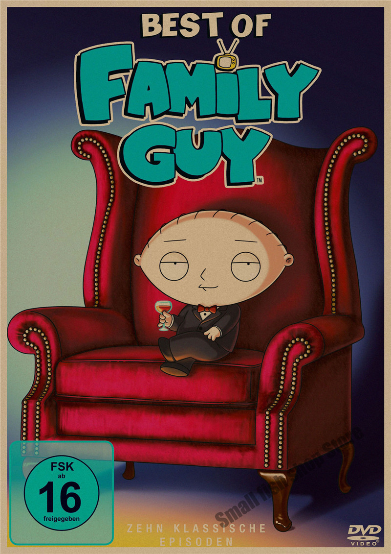 Family Guy movie retro Poster Retro Kraft Paper Bar Cafe Home Decor Painting Wall Sticker