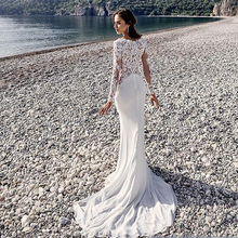 Buy Romantic Arabic Vintage Mermaid Wedding Dresses 2016 Bohemian White Beach Wedding Gowns Lace Applique Long Sleeve Bridal Dress for $118.15 in AliExpress store