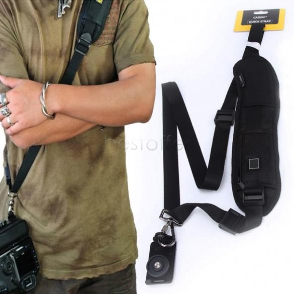 Promotion !2014 High Quality Quick Rapid Camera Single Shoulder Black Sling Belt Strap For SLR DSLR Camera #010 14825(China (Mainland))