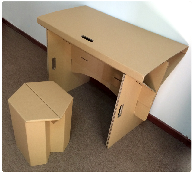 Diy Cardboard Furniture Paper Table With Chair Set